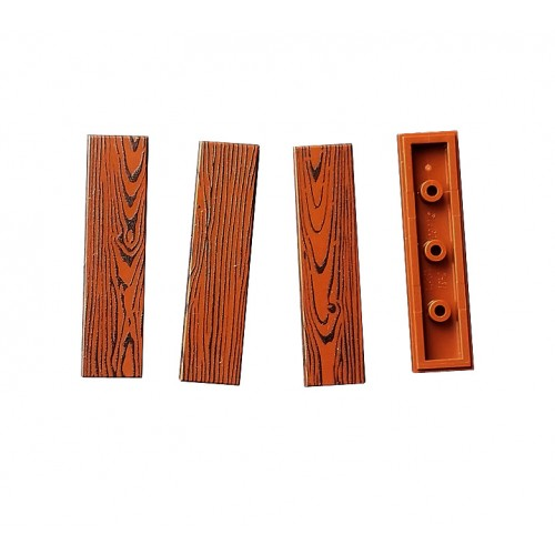 Wood tile 1x4 (reddish brown colour)