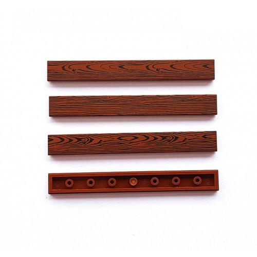 Wood tile 1x8 (reddish brown colour)