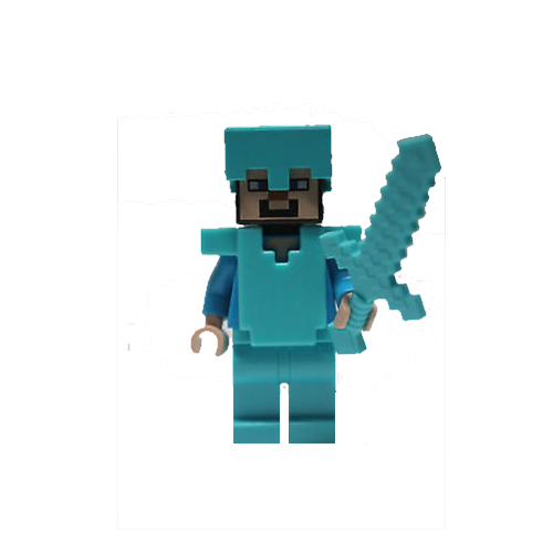 Steve with Armour and Sword