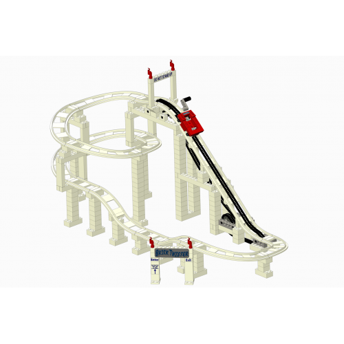 Brick Twister Deluxe Roller Coaster Set