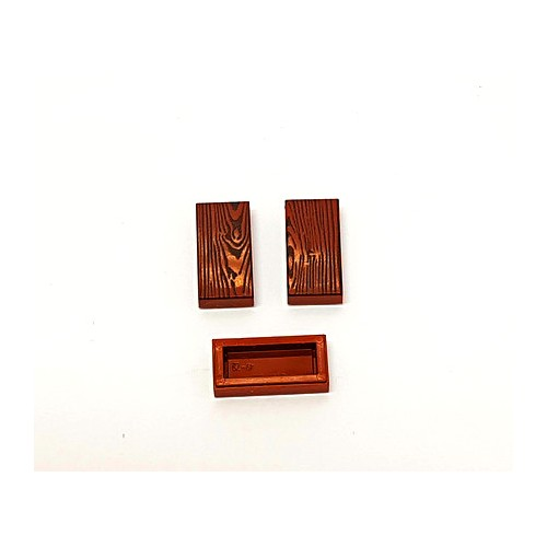 Wood tile 1x2 (reddish brown colour)