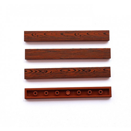 Wood tile 1x8 (reddish brown colour)
