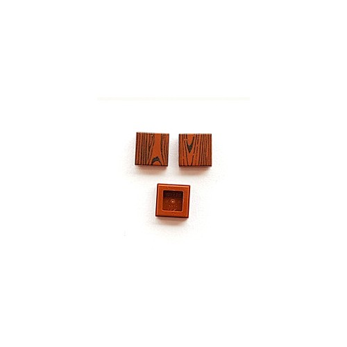 Wood tile 1x1 (reddish brown colour)