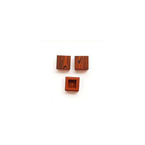 Wood tile 1x1 (reddish brown colour)