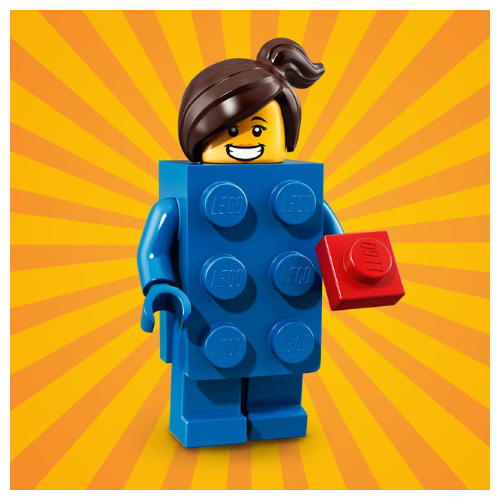 Lego Brick Suit Girl