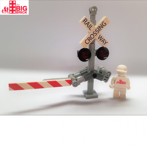 LEGO Custom Printed Railway Crossing