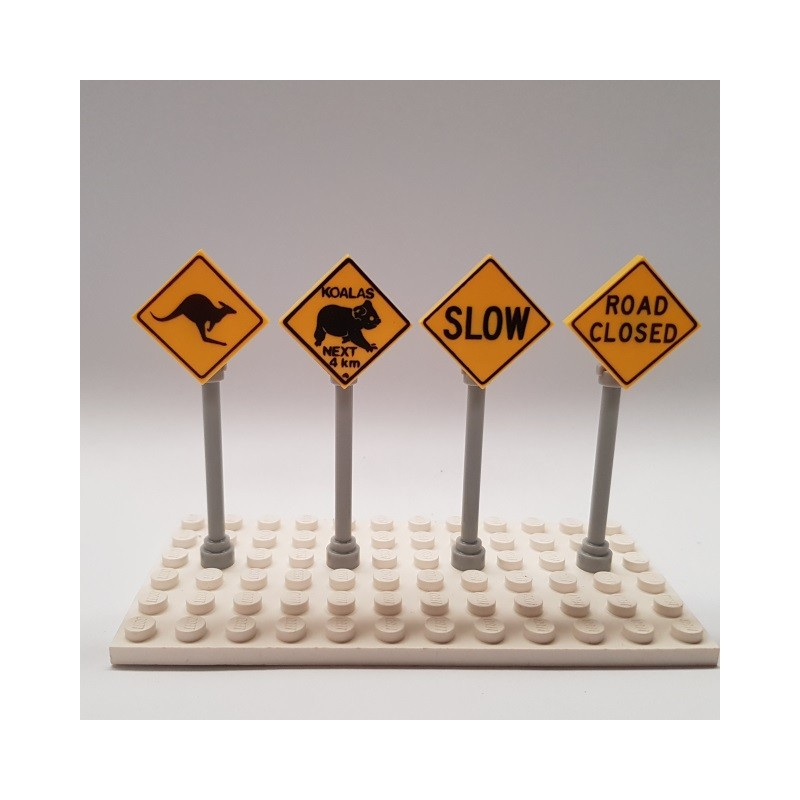 LEGO Custom Printed Country Road Signs