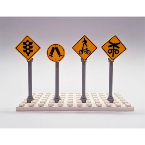 LEGO Custom Printed Crossing Road Signs