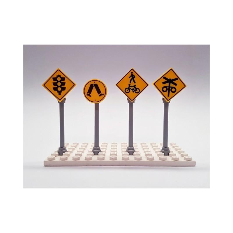 LEGO Custom Printed Crossing Road Signs