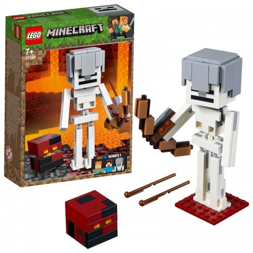 Minecraft Skeleton BigFig with Magma Cube