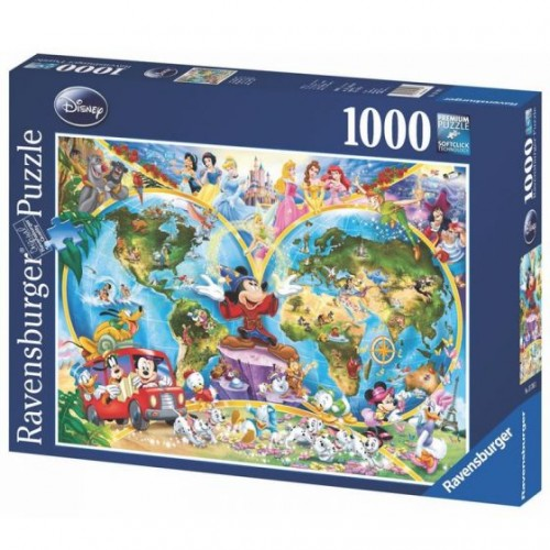 Ravensburger - Disney's World Map  1000pc Jigsaw