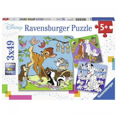 Ravensburger - Disney Friends puzzle 3 x 49pc
