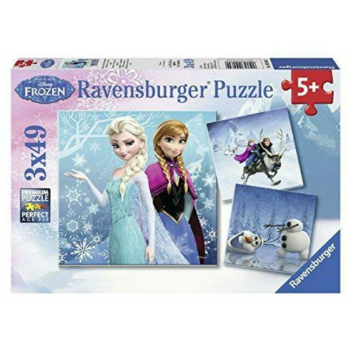 Ravensburger -Frozen - Winter Adventures puzzle 3 x 49pc