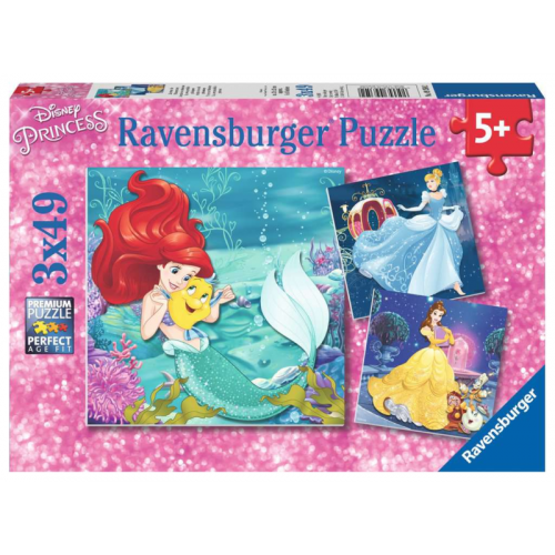Ravensburger - Princesses Adventure puzzle 3 x 49pc