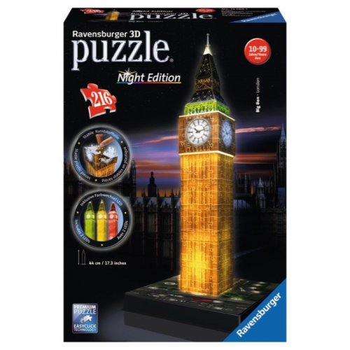 Big Ben Night Edition 3D Puzzle 216pc