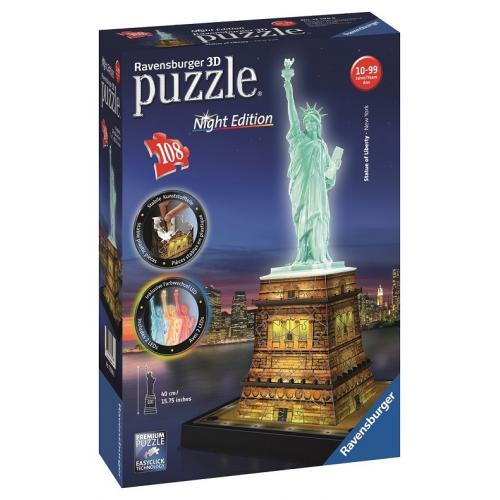 Statue of Liberty Night Edition 3D Puzzle 108pc