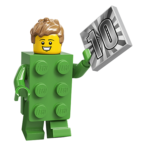 LEGO Series 20 Green Brick Suit Guy