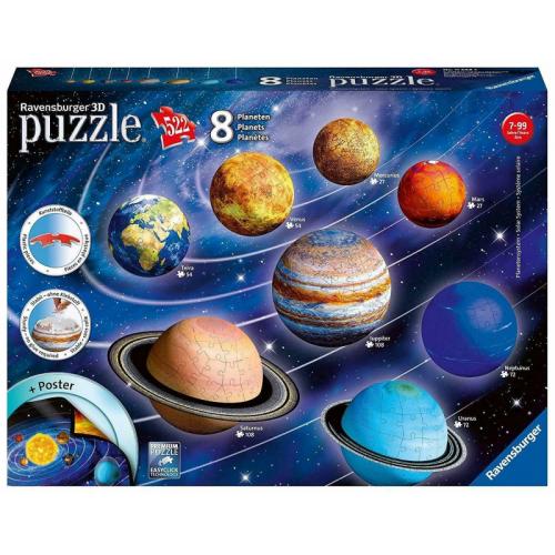 8 Planets 3D Puzzle 108pc