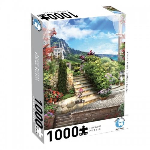 Puzzlers World Cliffside Garden 1000pc Jigsaw