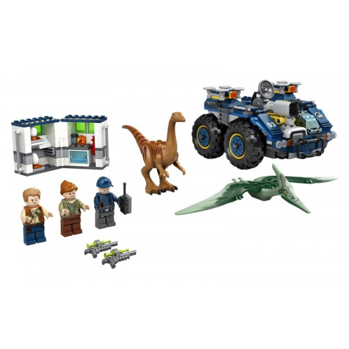 Gallimimus and Pteranodon...