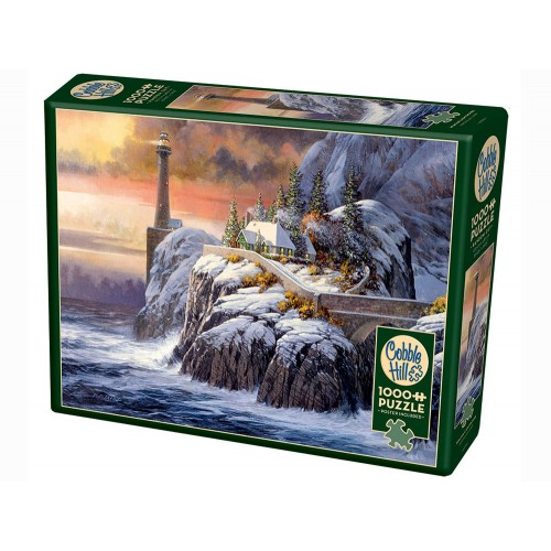 Winter Lighthouse - Cobble...