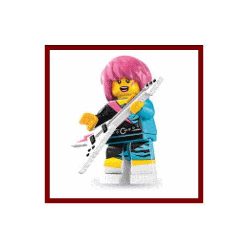 Rocker Girl - LEGO Series 7 Collectible Minifigure